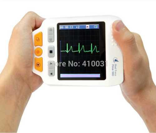 Colour Screen Handheld Portable Electrocardiogram ECG Monitors