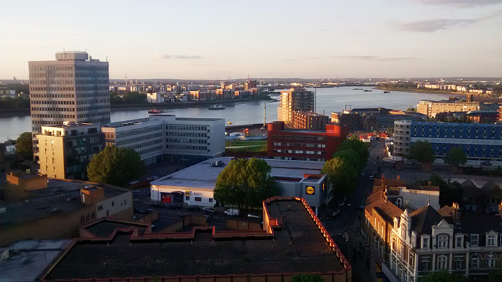 Even Woolwich looks beautiful in a summer sunset