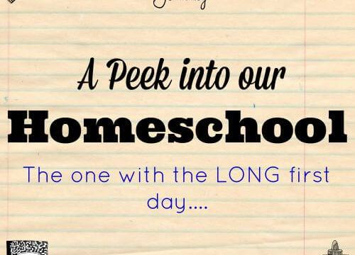 A Peek into our Homeschool-The One with the LONG First Day