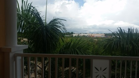 Our balcony at the Bahai Principe in Punta Cana.