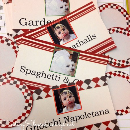 Coordinating food labels for an Italian themed party