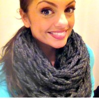 Finger Knit Infinity Scarves