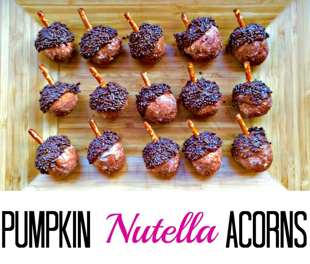 Pumpkin Nutella Acorns