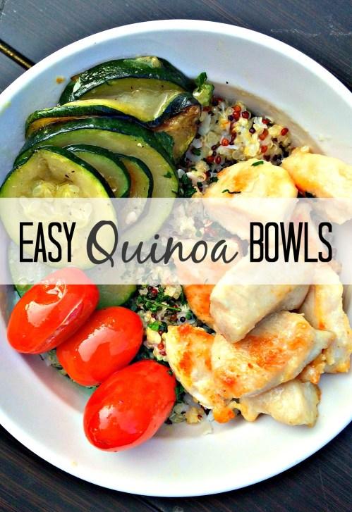 quinoa bowl recipe. easy and healthy