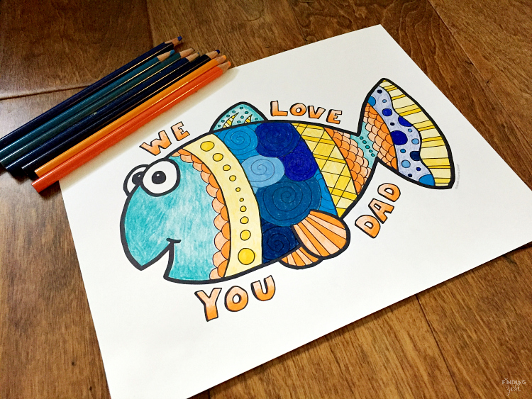 Father\u0027s Day Coloring Page Free Printable We Love You Dad - Finding