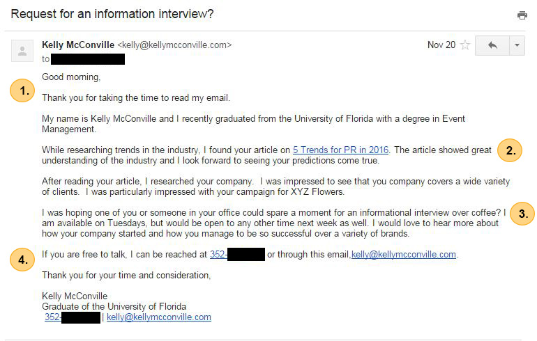 The Email That Will Land You an Informational Interview - FindSpark