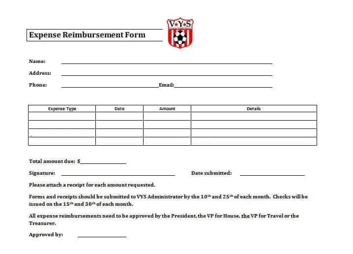 Expense Reimbursement Forms - Find Word Templates - expense reimbursement form
