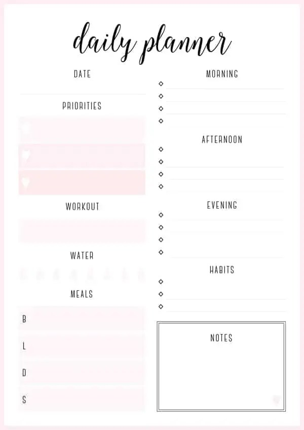 Daily Planner Templates - Find Word Templates - daily planner sheets