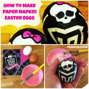Paper Napkin Easter Eggs Monster High