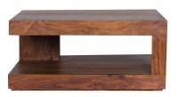 WOHNLING Couchtisch Massiv-Holz Sheesham 90 cm breit ...