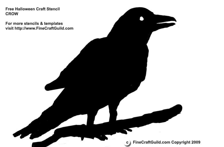 Halloween Stencil - Raven