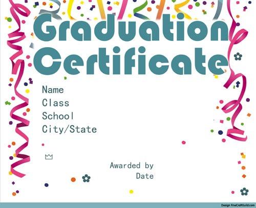 Free Graduation Certificate Templates - graduation certificate