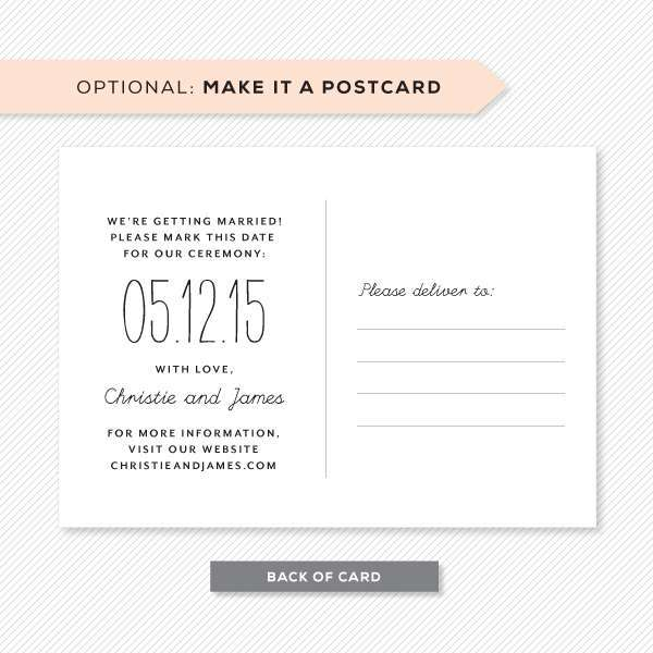 What To Write On A Save The Date Postcard Arts - Arts - save date postcard
