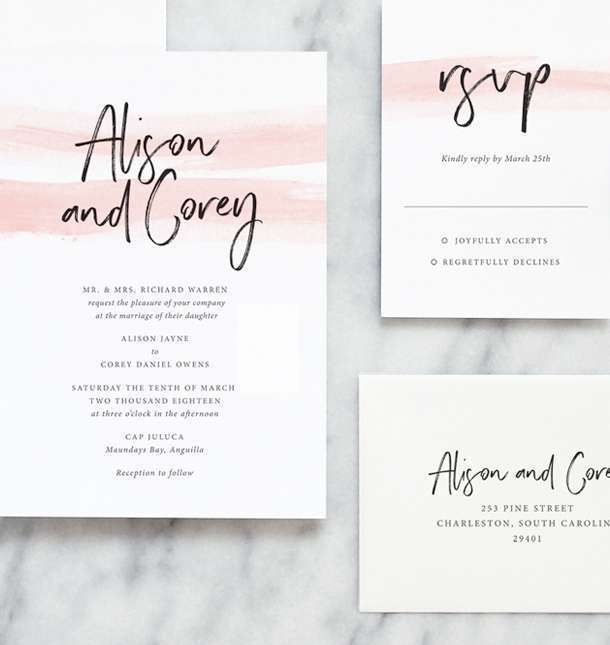 Wedding Invitation Wording - Fine Day Press