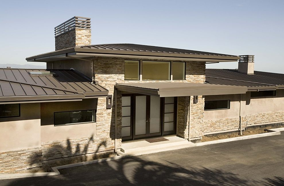 Hip Roof Construction With Transitional Exterior And