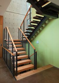Thick Stair Treads Contemporary Family Room Also Baby Gate ...
