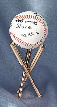 Display Stands - Baseball - Set of 2, Baseball Memorabilia ...