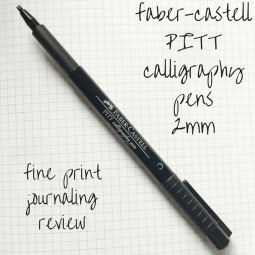 faber-castell calligraphy pen review