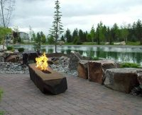 Trough Style Linear Gas Fire Pit 96 Inch | Fine's Gas