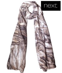 Next Grey foil print ladies scarf-wrap - finga-nails