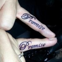 54 Beautiful Promise Finger Tattoos