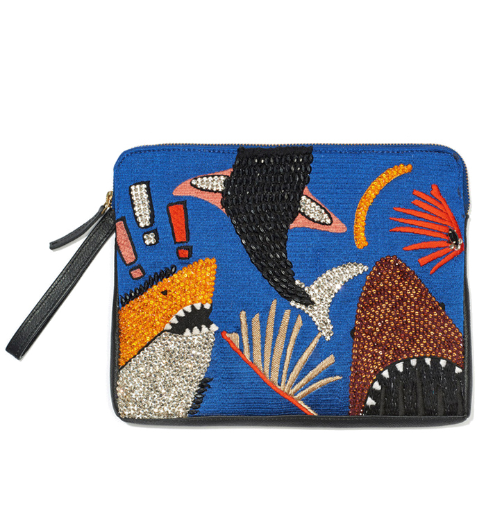 KirnaZabete-Lizzie-Fortunato-Shark-Attack-Safari-Clutch-31