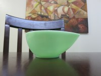 Swedish Modern Jade-ite Tear Drop Mixing Bowl  Fire-King ...