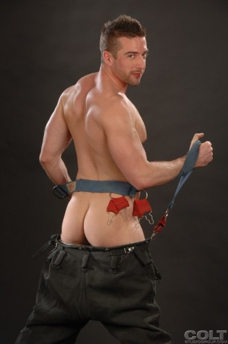 Scott-Hunter-Uniform-Men-firefighter-jockstrap-gay-porn-star-COLT-studio-group-with-Bob-Hager-hairy-masculine-hot-passionate-sex-5