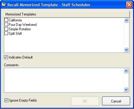 Load a schedule template