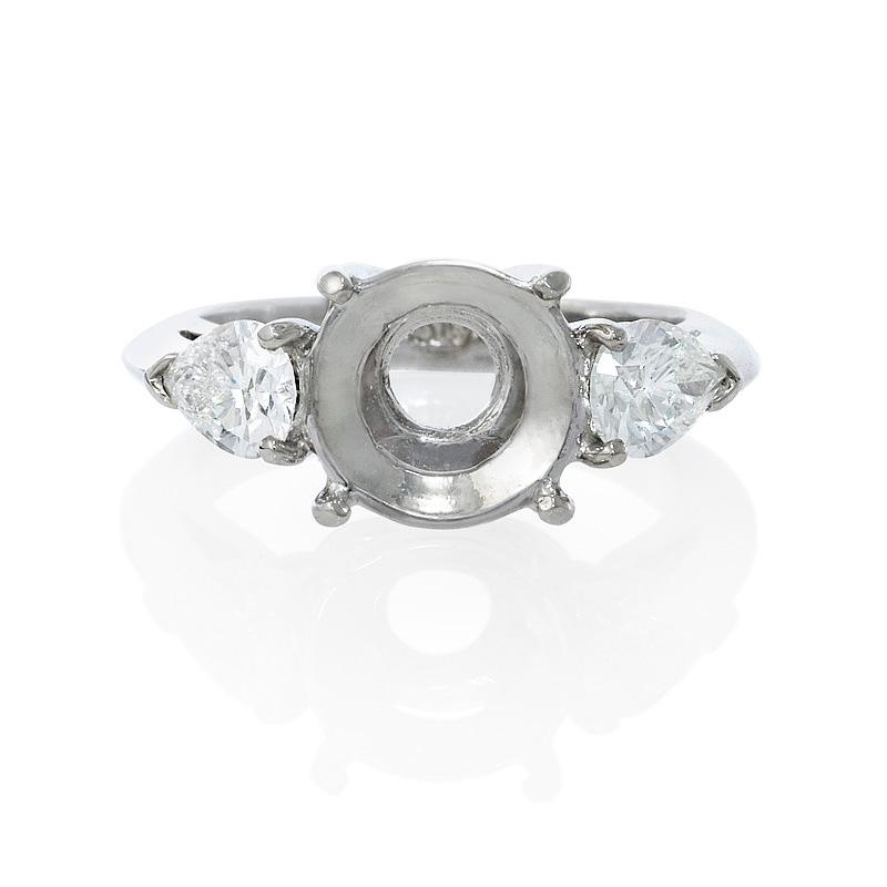 .84ct Diamond Pear Shape Platinum Three Stone Engagement