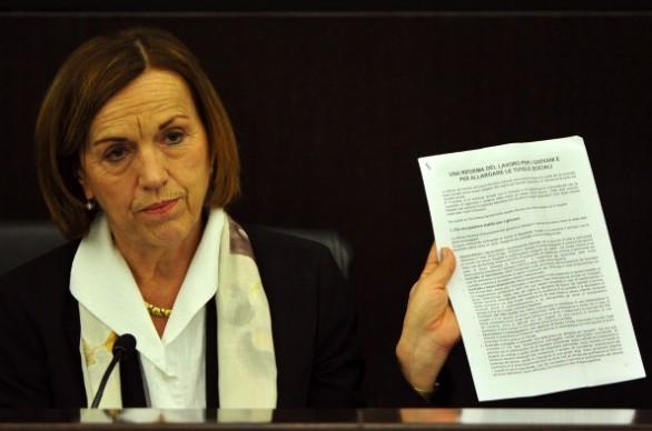 Il Ministro del Lavoro Elsa Fornero