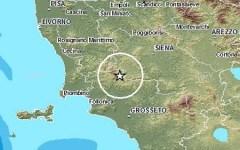 Terremoto, lieve scossa tra Siena e Grosseto