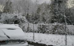 La notte porta la neve ad Arezzo
