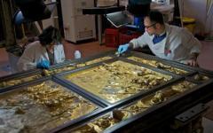 Formelle d'oro sulla porta nord del Battistero di Firenze
