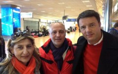 Renzi a Lampedusa: «La mia storia da segretario inizia da qui»