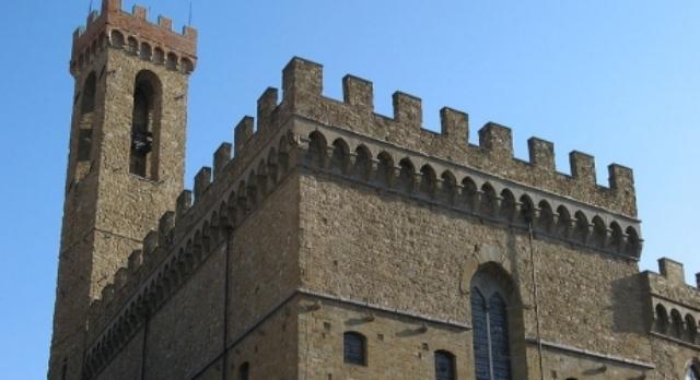 La torre del museo nazionale del Bargello a Firenze