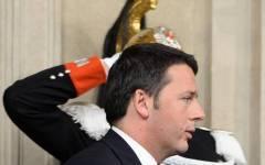 Matteo Renzi all'uscita dal Quirinale