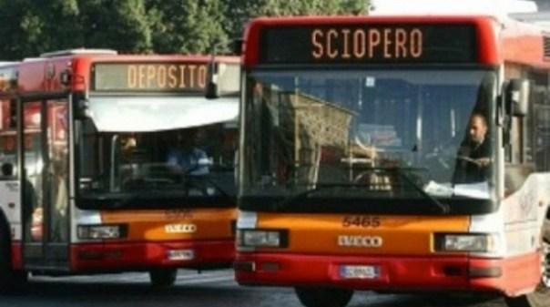 Autobus in sciopero