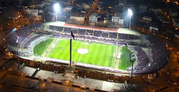 Lo stadio Artemio Franchi di Firenze