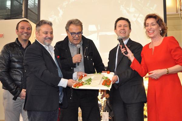 da sinistra Umberto Montano, Oliviero Toscani e il sindaco Dario Nardella