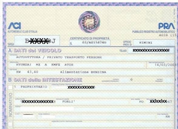 Il certificato del Pra