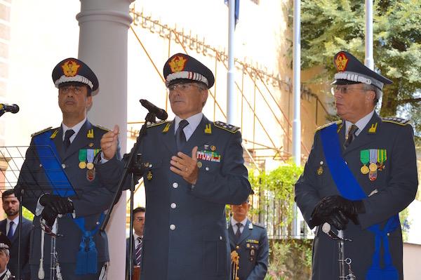 Da sinistra i generali Valente, Capolupo e Zanini