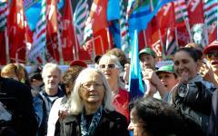 Pensioni: domani 14 luglio manifestazione dei sindacati davanti al senato