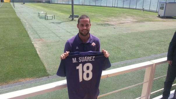 Mario Suarez con la maglia numero 18