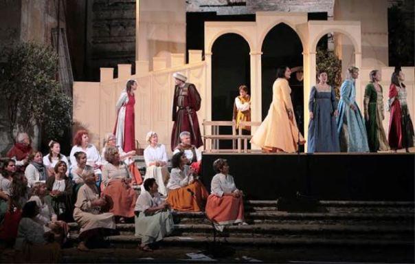 Montepulciano, la messa in scena del tradizionale Bruscello