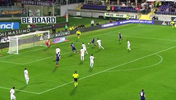 Fiorentina-Bologna il gol di Blaszczykowski (foto Twitter - SportMediaset)