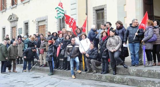 Manifestazione dei dipendenti delle province