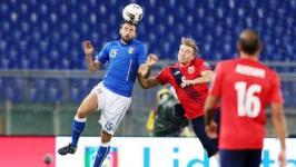Italia-Norvegia, Andrea Barzagli in azione