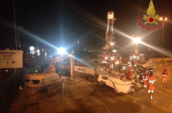 Il luogo dell'incidente tra viale Guidoni e viale XI Agosto