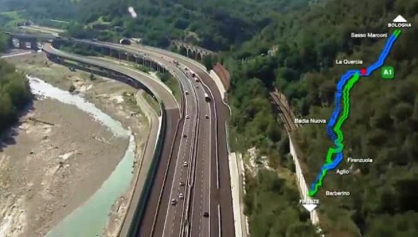 Autostrada A1 Firenze-Bologna, la Variante di Valico, aperta il 23 dicembre 2015
